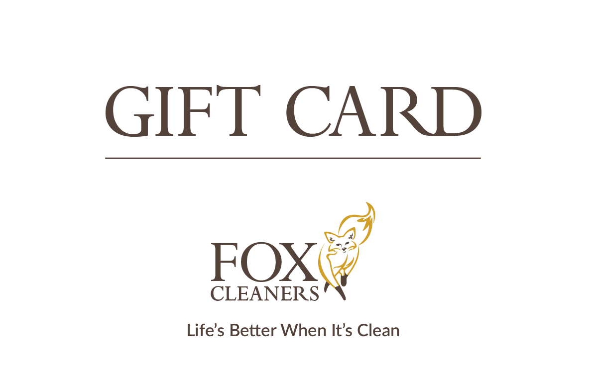 Fox Cleaners Gift Card for dry cleaning and laundry