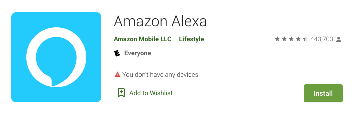 Download Amazon Alexa onto your device