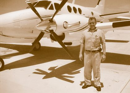 Tim Fox with his first King Air Plane.